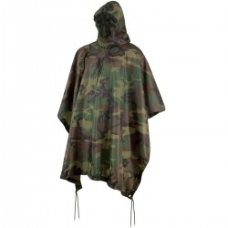 US Poncho ripstop woodland