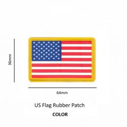 US Flag Rubber Patch Color