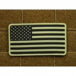 US Flag Rubber Patch Glow...