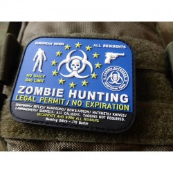 Zombie Hunter Rubber Patch...