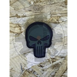 Punisher Black/Green Patch